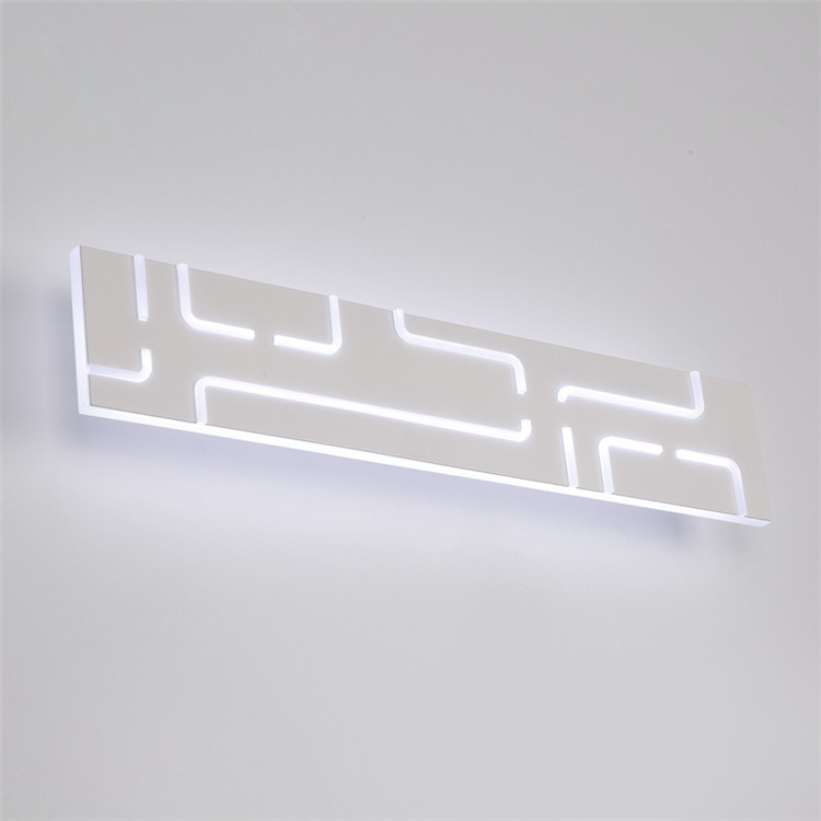 LED mirror straight front lamp modern simple fashion acrylic living room hotel wall lamp toilet bathroom wall lamp ZH luxury modern white acrylic 12w led bathroom wall lamp mirror front fashion wall light showroom washroom wall lamp