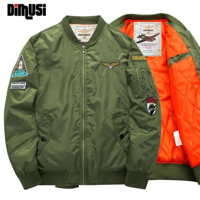 Plus Size 4XL 5XL Inverno Jaqueta Bomber Homens 2016 Air Force One Hip Hop Patch Designs Slim Fit Homens Casaco Parkas Jaqueta de Piloto de Bombardeiro