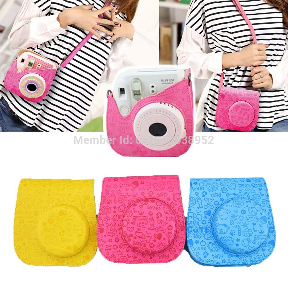 100 Brand New Pu Leather Cartoon Cute Camera Case Bag For Fujifilm Instax Mini 8 8s High Quality In Video Bags From Consumer Electronics On
