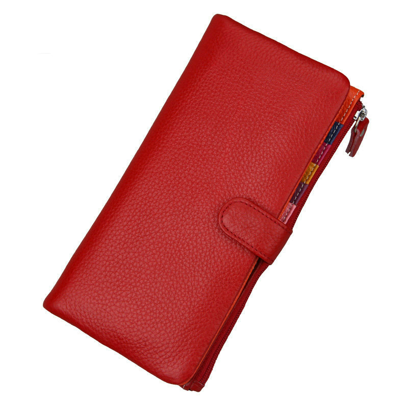 2017 Fashion Ladies Leather Wallets Credit Card Holders Money Bag Zipper Women Wallets Genuine Leather Long Coin Female Purse 2017 new long wallets small money bag women credit card holder fashion hasp solid female brand leather purse coin pocket ladies