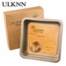 лучшая цена ULKNN Cake Pan Regular Polygon Non Stick High Quality Carbon Steel Kitchen Make Dessert High Temperature Resistance Cake Pan