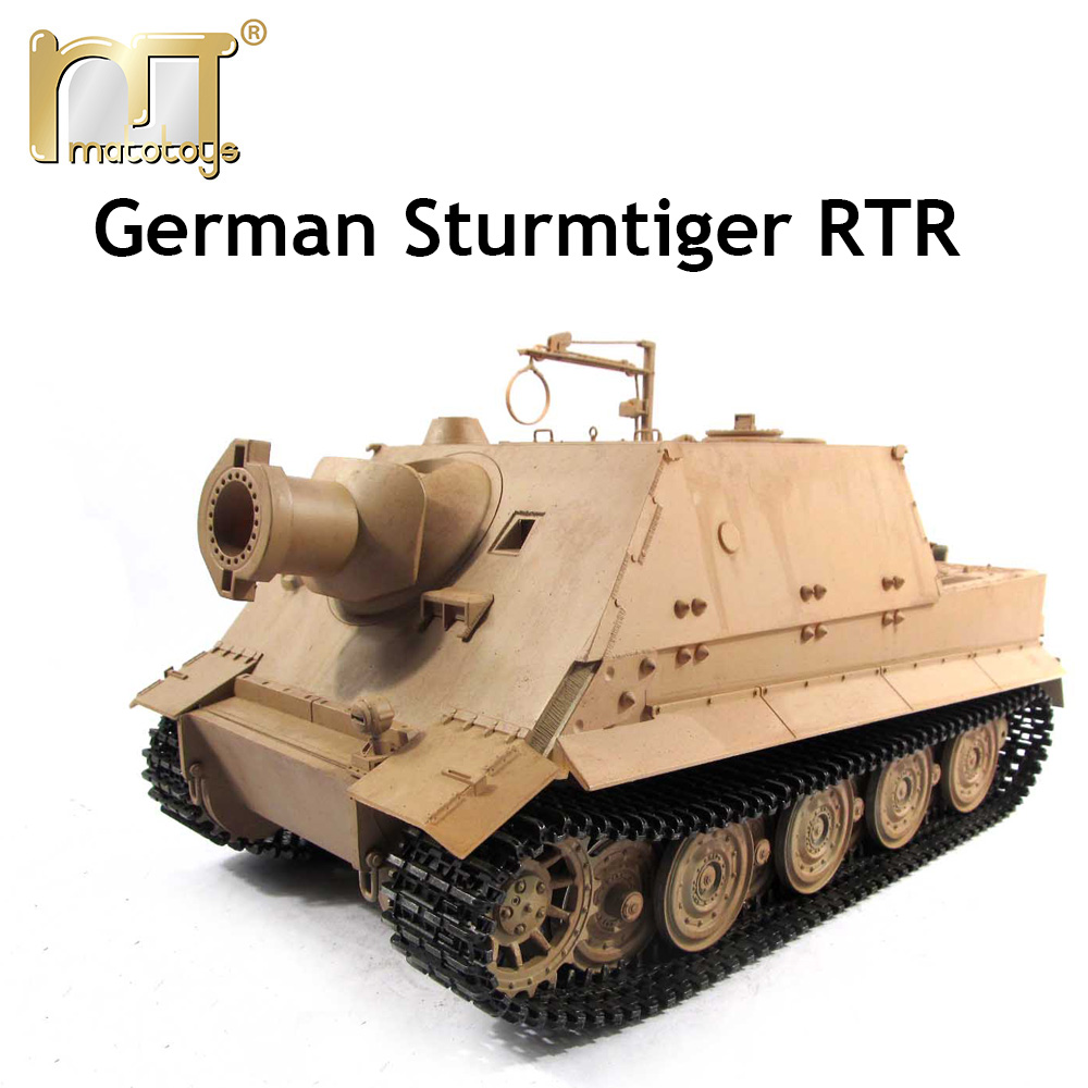 Mato 1:16 1/16 German Sturmtiger 6688 metal radio control tank plastic upper hull, Ready to Run, Infrared rc tank mato 1 16 stug iii rc tank full metal upper hull mt189 spare parts
