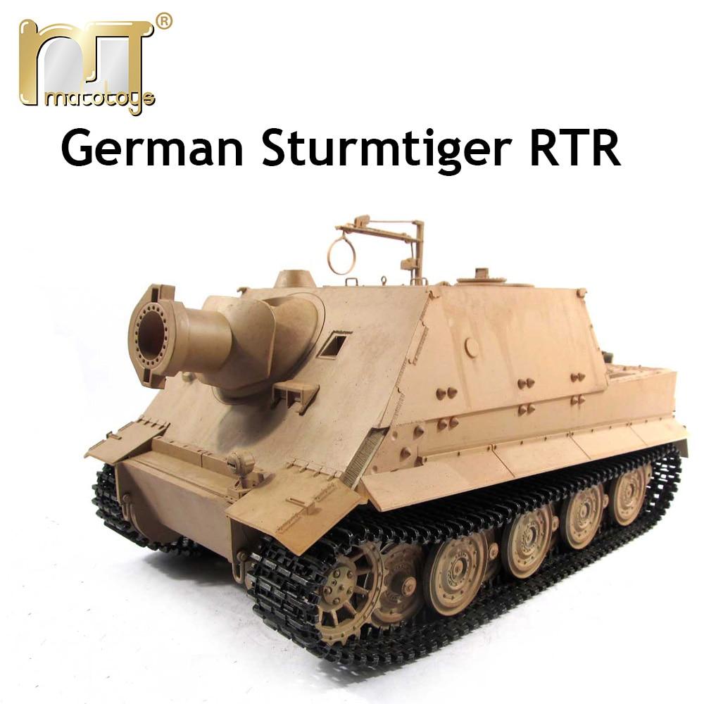 Mato 1:16 1/16 German Sturmtiger 6688 metal tank plastic upper hull, Ready to Run, Infrared rc tank, IR mato 1 16 stug iii rc tank full metal upper hull mt189 spare parts