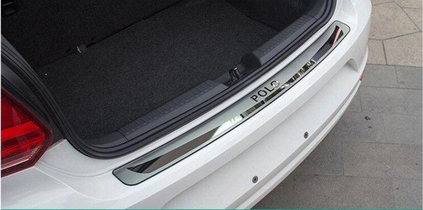 Порог защита накладка на заднюю углеродное волокно Задняя Крышка багажника отделкой сзади на пороге хэтчбек версия для поло 2011