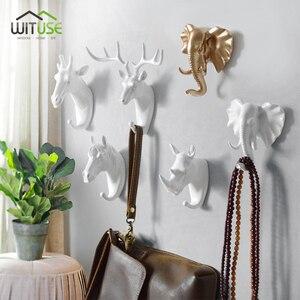 Image 5 - 8 Shapes Vintage/Modern Antlers Wall Hanging Hook Clothes Hat Scarf Key Deer Horns Hanger Rack Wall Decoration White Gold Black