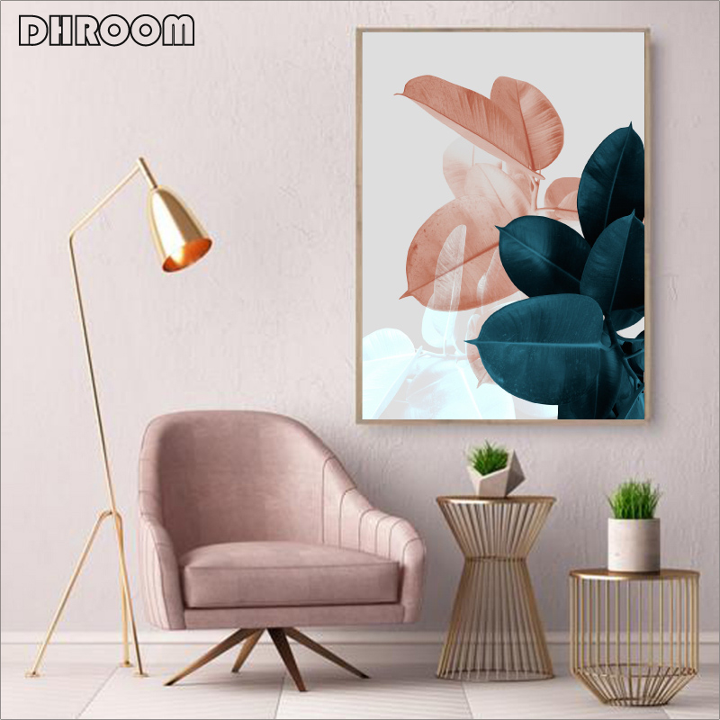 HTB1uZusOgHqK1RjSZFgq6y7JXXaS Wall Pictures for Living Room Leaf Cuadros Picture Nordic Poster Floral Wall Art Canvas Painting Botanical Posters and Prints