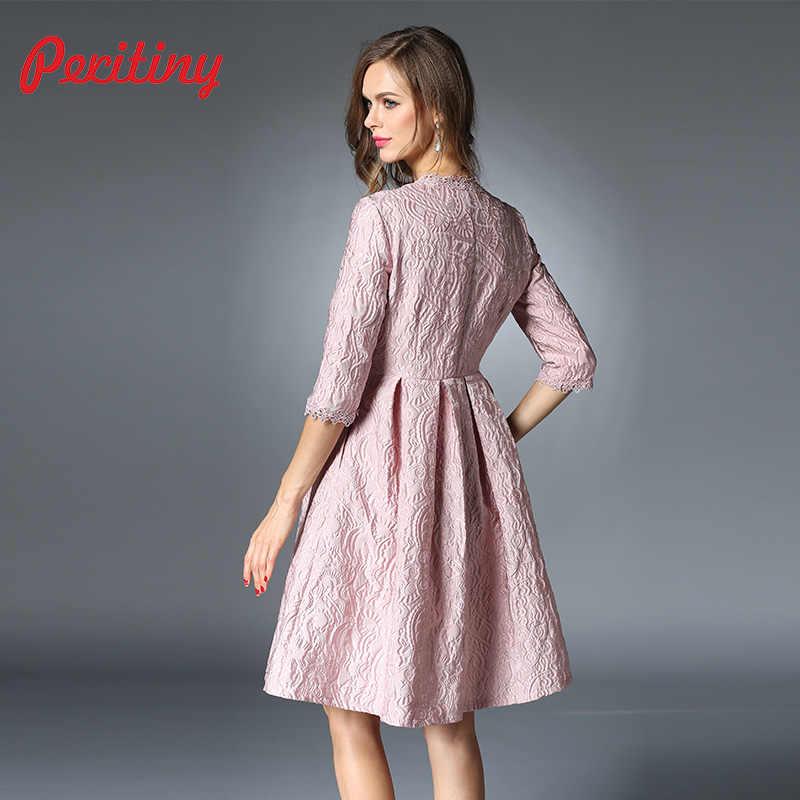 fafd8e1be6bc57d ... Peritiny платье Платья.Осень-зима Для женщин 2018 О-образным вырезом  Половина рукава ...