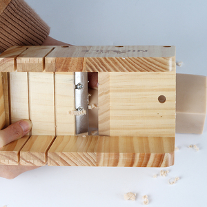 Image 4 - シリコーン石鹸型手作り石鹸作成ツールセット 4 木製カッティングボックスと 2 個ステンレス鋼カッター
