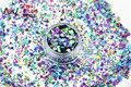 HA21-273 Mista Laser Holográfico Cores Hexágono Forma Lantejoulas Glitter para nail art gel e DIY decoração Do Feriado