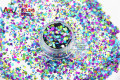 HA21-273 Mixed Laser Holographic Colors Hexagon Shape Glitter Sequins for nail art gel and  DIY Holiday decoration