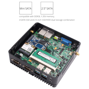 Image 4 - XCY Fanless Mini PC Intel Celeron J1900 Dual Gigabit Ethernet 2x RS232 HDMI VGA 4xUSB WiFi Windows 10 Linux Industrial Computer