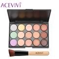ACEVIVI 15 Colors Makeup Face Cream Concealer Palette + Powder Brush