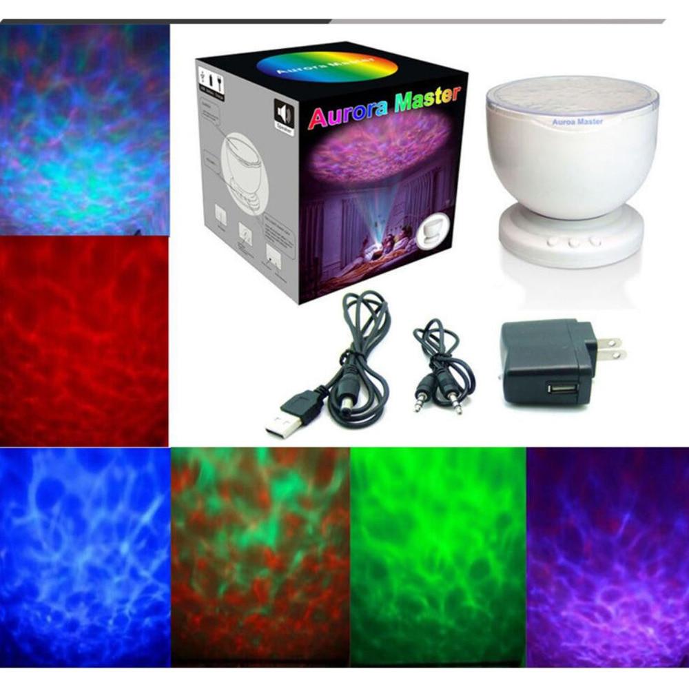 Star Projector Ocean Wave Romantic Night Light Mood Lamp Lighting Music Player Speaker Marine Aurora Dream Bedroom Party Decor