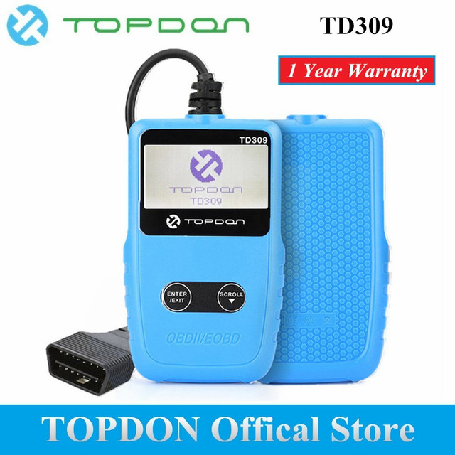 Special Price OBD2 Scanner Code Reader Scan Tool Read Erase Codes View Freeze Frame Data TOPDON TD309 Auto Scaner OBDII Diagnostic Tool MS309