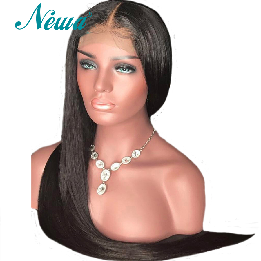 150 Density Silk Base Lace Front Human Hair Wigs Straight Brazilian Silk Top Lace Frontal Wigs
