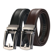 Men high quality genuine leather belt luxury New Automatic buckle cowskin fashion Strap mens Jeans for men cowboy waistband
