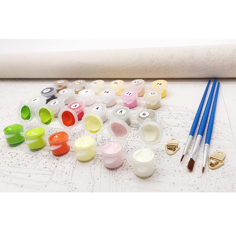 RUOPOTY Europa Blomma Abstrakt Diy Målning Med Numbers Kits - Heminredning - Foto 5