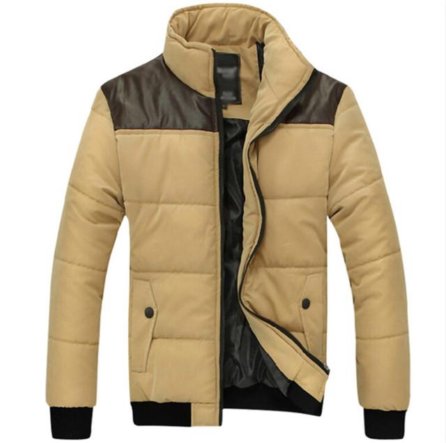 [ Asia tamaño ] de la nueva chaqueta de invierno marca campera de abrigo de algodón Casual Parka hombres chaqueta acolchada de invierno guapo informal hombres abrigo de invierno