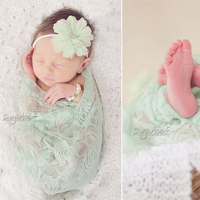 100x70cm Stretch Lace Wrap (Mix 4 colors/ Lot Excluding headdress flower) Newborn Baby Photography Props Backdrop Wraps