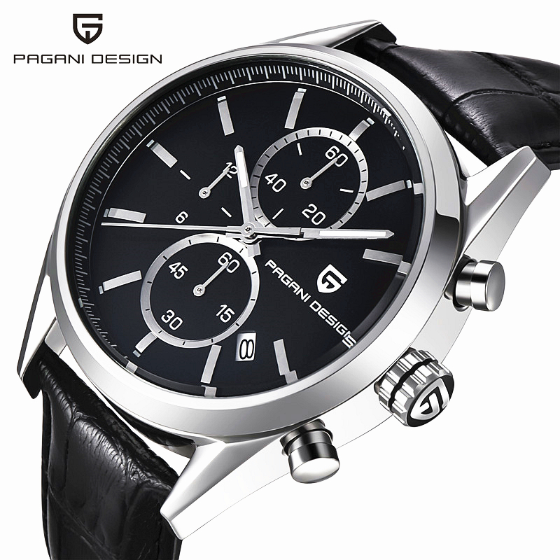 ФОТО PAGANI DESIGN Classic Watches Men's Watches New Fashion Casual Leather Strap And Stainless Steel Strap Business Men (CX-2513C)