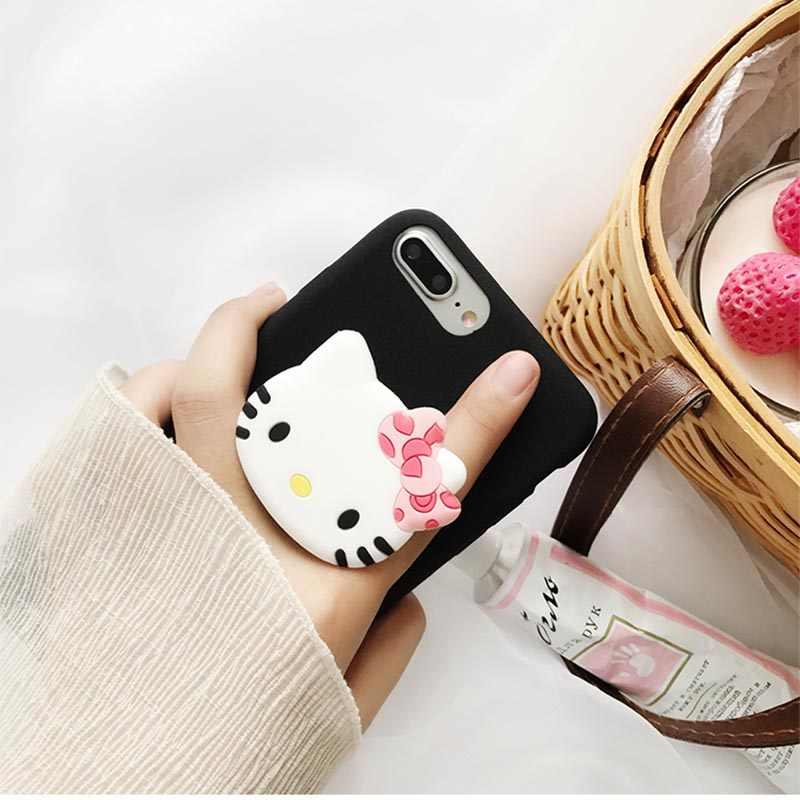Soporte de teléfono encantador Popular para iPhone X XR XS Xmax 6 6S 7 8 Plus Xiaomi tableta de teléfono inteligente en expansión soporte de montura de anillo