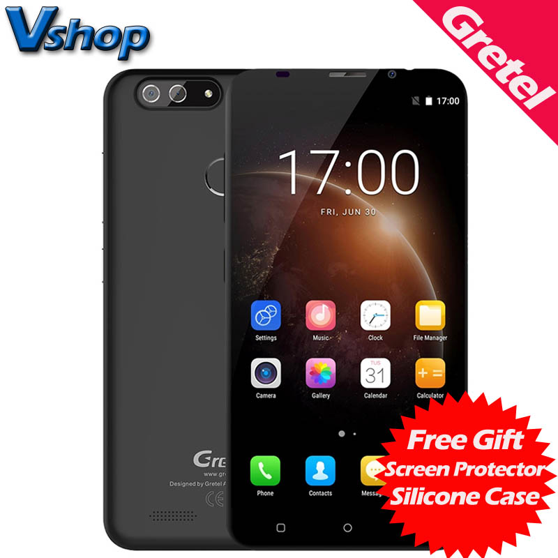 Original Gretel S55 3G Mobile Phone Android 7.0 1GB RAM 8GB ROM Quad Core Smartphone 720P Dual Back Cameras 5.5 inch Cell Phone