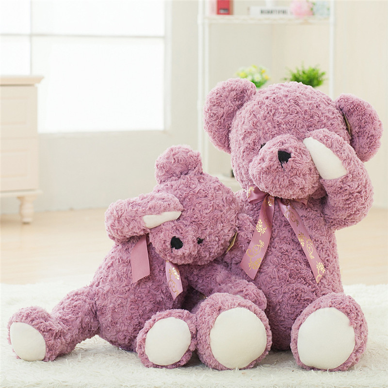 cute cartoon teddy bear plush toys lovely bear peluche dolls wedding