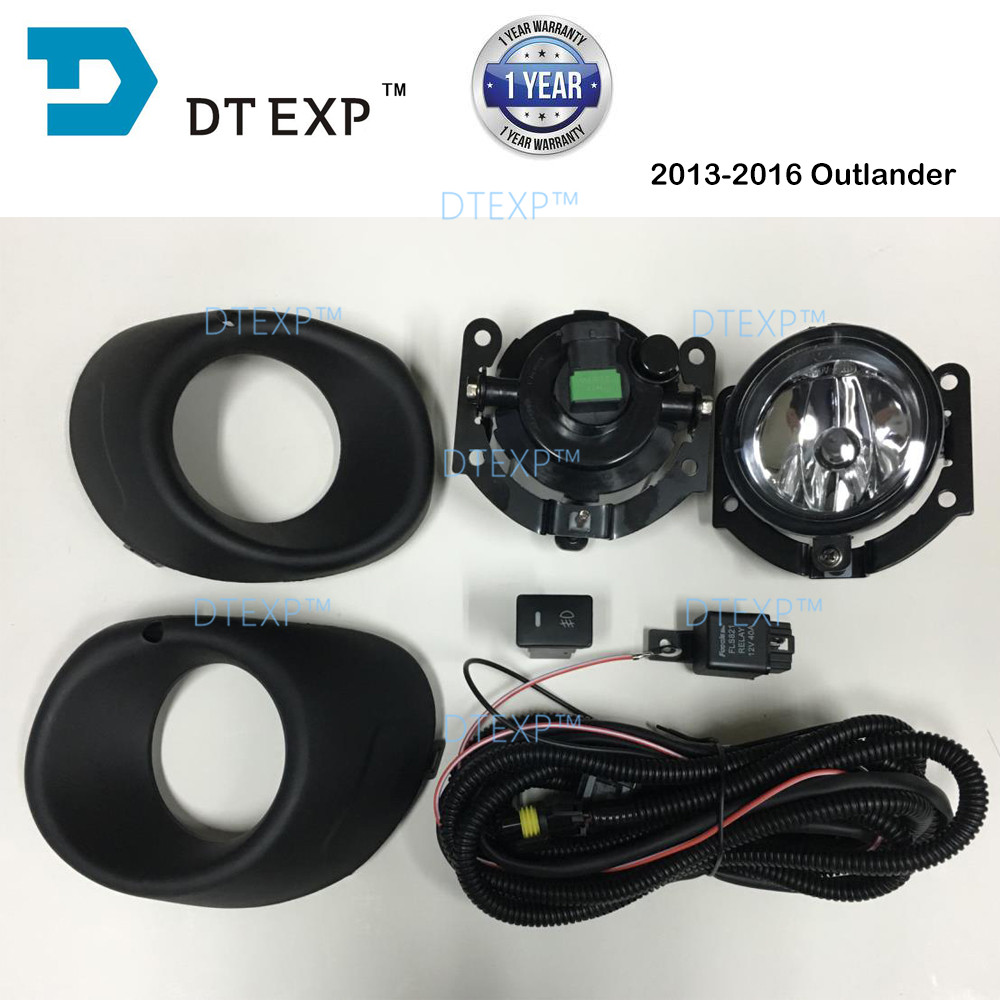 2013 2015 outlander fog lamp full set with bulb airtrek fog lamp with wire and switch silver cover available
