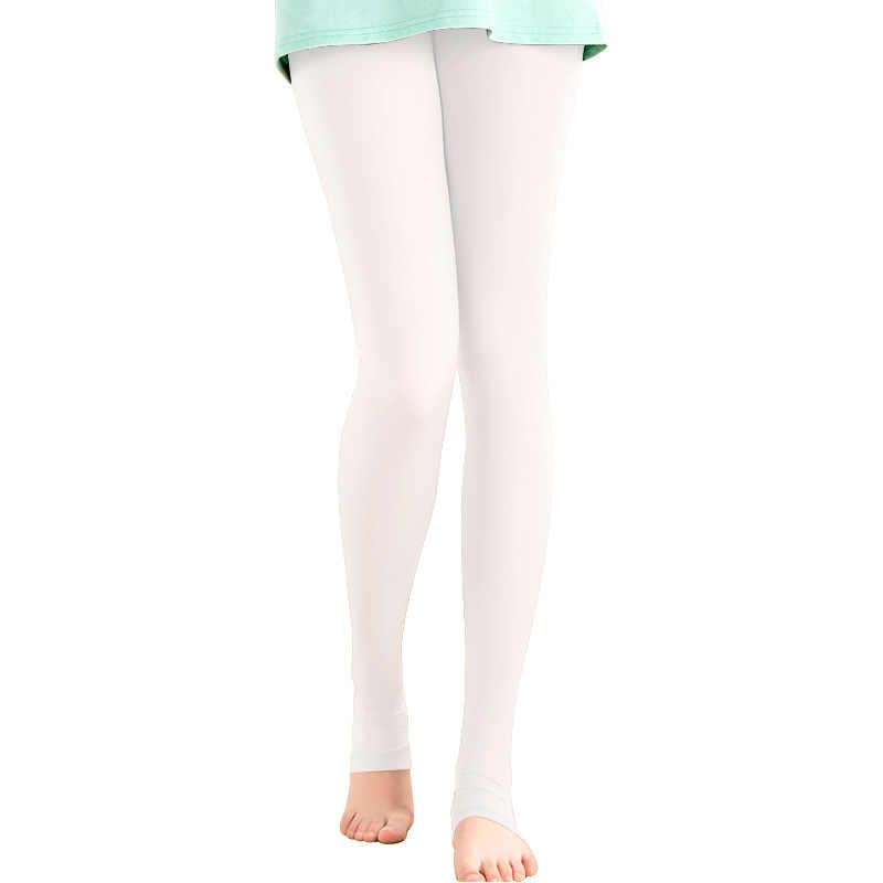 Doorschijnende Elastische Legging Kous Vrouwen Zonnebrandcrème panty Golf Tennis Outdoor Broek UV-proof Licht Dunne Glad been sokken