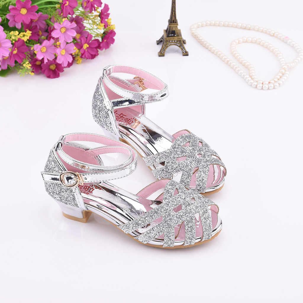 ילדי סנדל נעלי קיץ מזדמן תינוק בנות נעל פרל פרפר-קשר קריסטל אחת נסיכת נעלי סנדלי סניקרס מבין