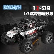 RC Mainan 12409 1/12 4WD Off Jalan RC Mobil Listrik 50 km/h Remote Control Kecepatan Tinggi Sikat Bermotor Truk RC Climbing Mobil vs 10428-B