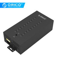 ORICO 20 Ports Industrial USB2.0 HUB with Charge Mode and Date Mode Black (IH20P)