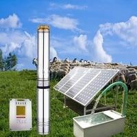 high head AC380 high head solar water pump garden fountain pond solar pump solar submersible pump for irrigation