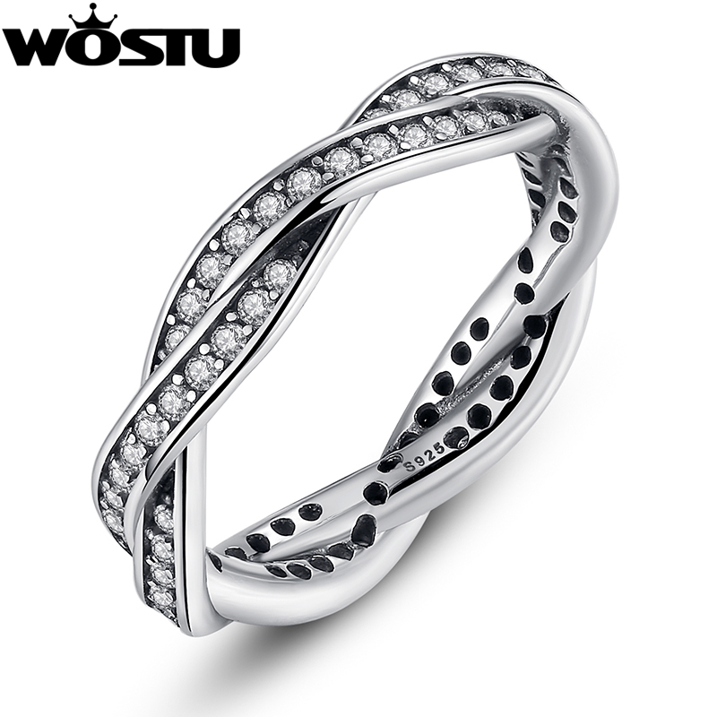 Authentic 100% 925 Sterling Silver Rings With Full Crystal Compatible With European Fit Original Same Ring Jewelry XCH7116