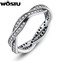 Authentic 100 925 Sterling Silver Rings With Full Crystal Compatible With European Fit Original Pandora Same