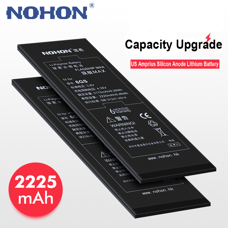 NOHON Li-Ion-Battery Free-Repair-Machine-Tools Retail-Package IPhone 6s High-Capacity