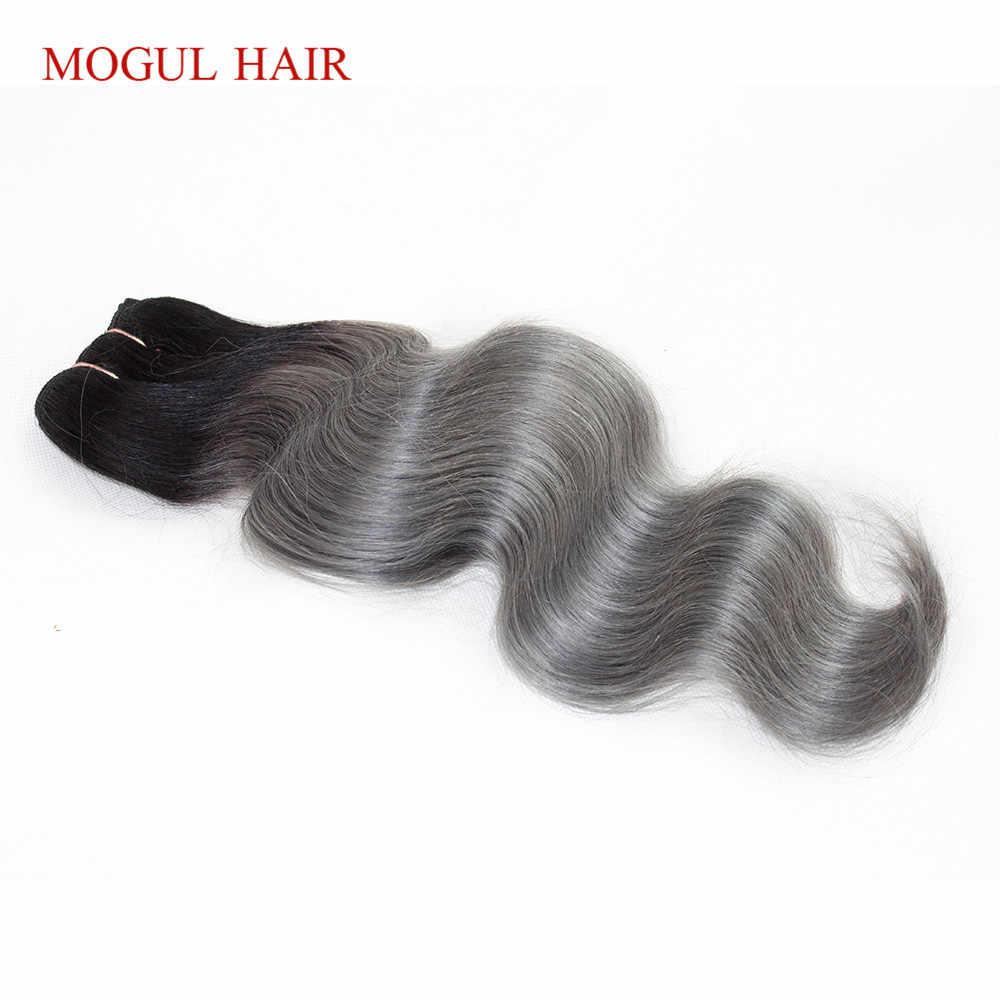 MOGUL HAAR Ein Stück Nur T 1B Dark Grau Körper Welle Haar Extensions Ombre Brasilianische Remy Menschenhaar Weben Bundles 10-18 zoll