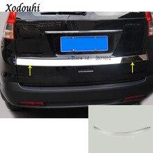Для Honda CRV CR-V 2012 2013 2014 2015 201 кузова Стайлинг Обложка нержавеющая сталь задняя дверь багажника Рамки Плиты отделкой лампы 1 шт