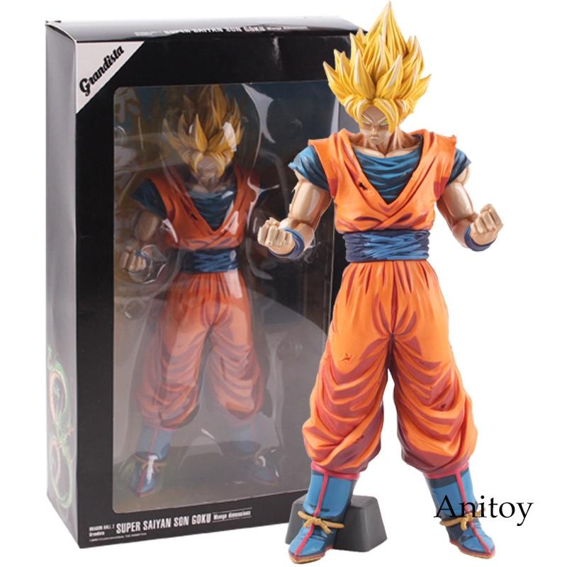 Grandista Dragon Ball Z Super Saiyan Son Goku Manga Dimensions PVC Son Gokou Dragon Ball Figure Collectible Model Toy Gift 31cm