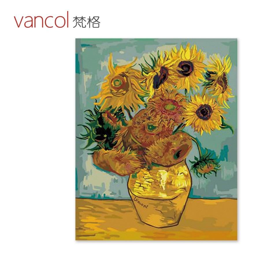 DIY ölgemälde sonnenblumen Van gogh färbung durch zahlen cuadros ...