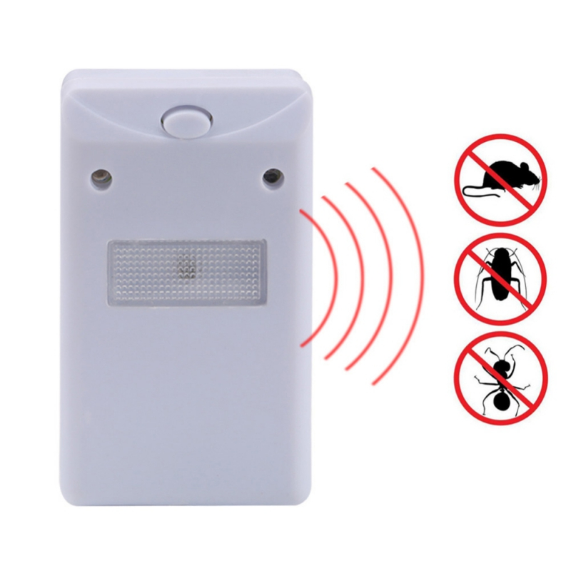 Ultrasonic Electronic Repeller Pest Control Drives Away Animals With Flashlight Outdoor Insect Repellent