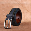 Senmi Top-quality Men genuine leather buckles belts for men Automatic adjustment dark blue Belts with buckles