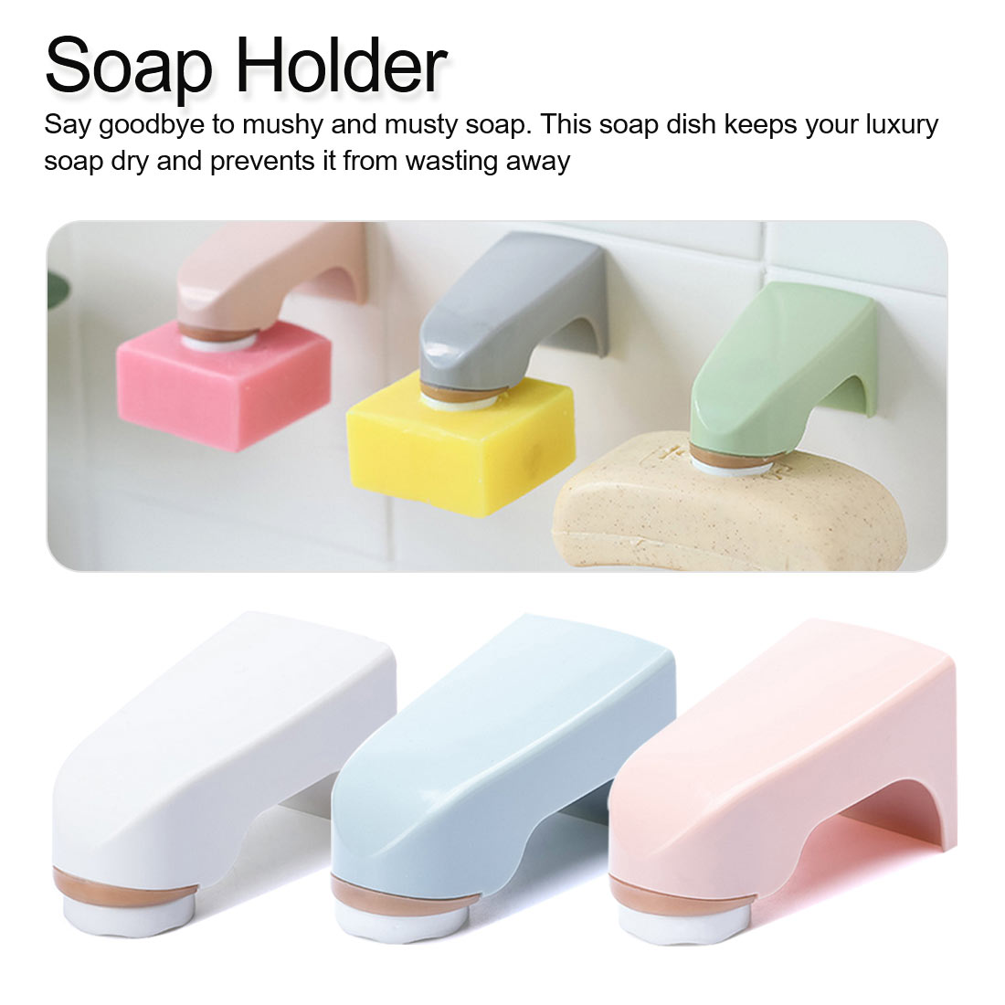 Bathroom Soap Dishes Convenient Magnet Magnetic Soap Holder Prevent Rust Dispenser Adhesion Wall Attachment Dishes
