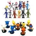 NOVO 12 Pçs/set 5-11.5 cm figura FNAF Chica Bonnie Foxy das Cinco Noites No Freddy Freddy Fazbear Urso boneca Ação PVC Figuras de Brinquedo