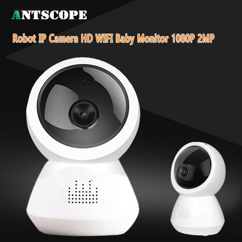 Antscope IP Camera Robot 1080P HD WIFI Wireless PTZ Two Way Audio P2P Onvif Night Vision Network Baby Monitor Surveillance Cam robot camera wifi 960p 1 3mp hd wireless ip camera ptz two way audio p2p indoor night vision wi fi network baby monitor security