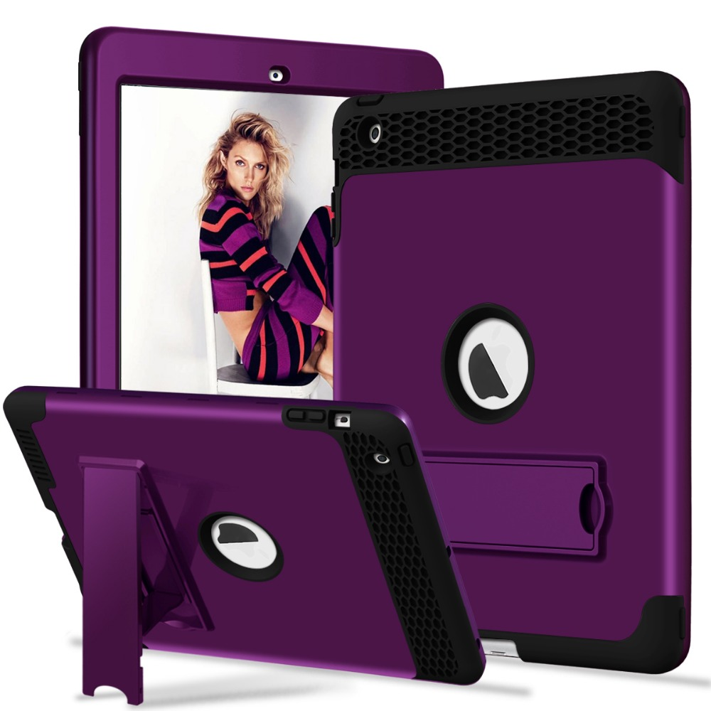 For IPad 4 3 2 Kids Case Heavy Duty Shockproof Rugged Kickstand Protective Cover Case For IPad 2nd/3rd/4th Generation Retina
