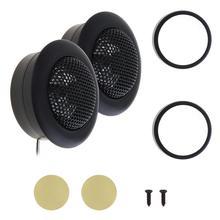 2pcs Black 800W YH-120 Car Horn Dome Tweeter Audio Loudspeak