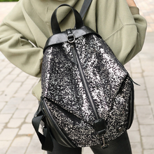 2019 New Fashion Ladies Deformable Shoulder Bag Korean Fashion Trend Hip Hop Bag Sequin Shoulder Bag hip bag