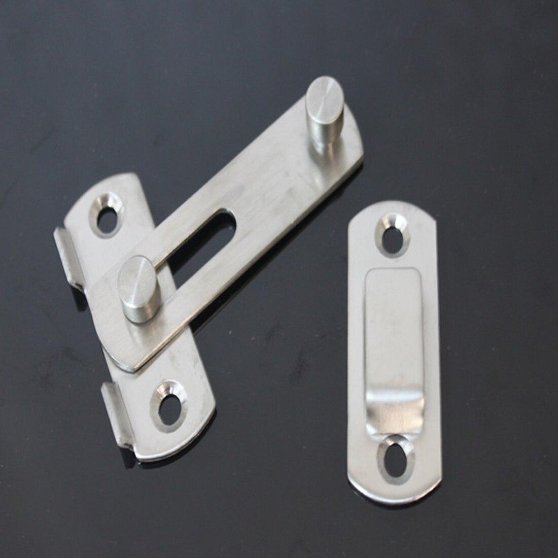 Stainless Steel Hasp Latch Lock Sliding Door Lock For Window Cabinet