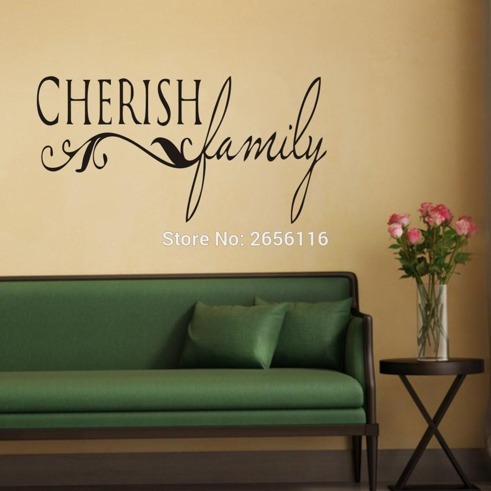 online get cheap family quote aliexpress com alibaba group cherish family quotes wall decal for living room home sticker art vinyl mural for bedroom decoration